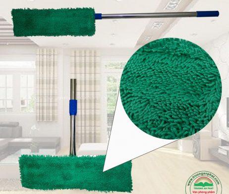 cây lau nhà bẹ cán inox vải xanh văn phòng phẩm mỹ tho