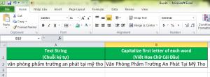 Làm Thế Nào Viết Hoa Chữ Cái Đầu Trong Excel Áp Dụng Vào Công Việc Văn Phòng